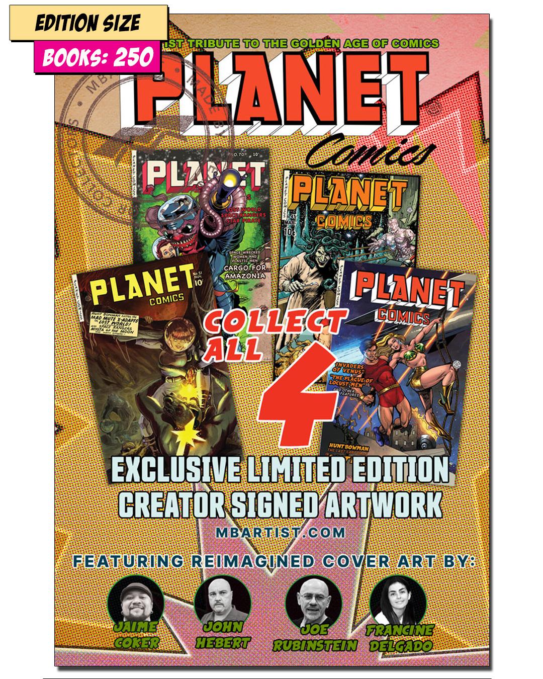 Book - PLANET COMICS Set of 4 PARTIAL: REPRINT