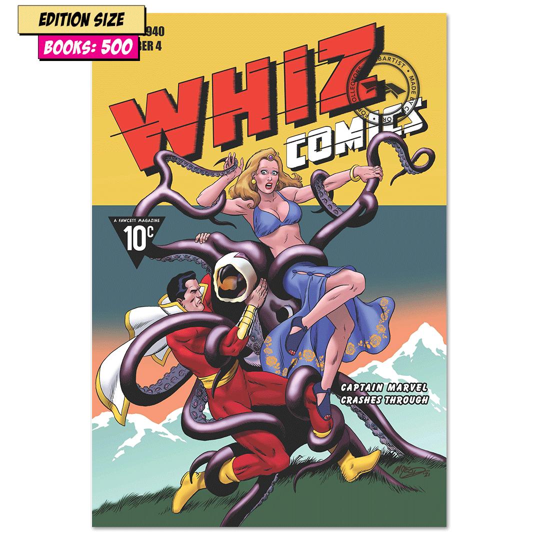 WHIZ COMICS #4: COVER RECREATION, FACSIMILE REPRINT