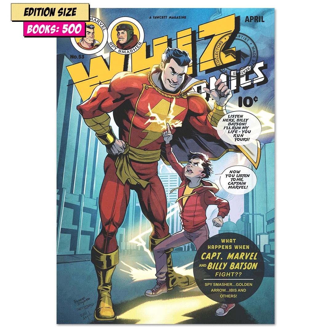 WHIZ COMICS #53: COVER RECREATION, FACSIMILE REPRINT