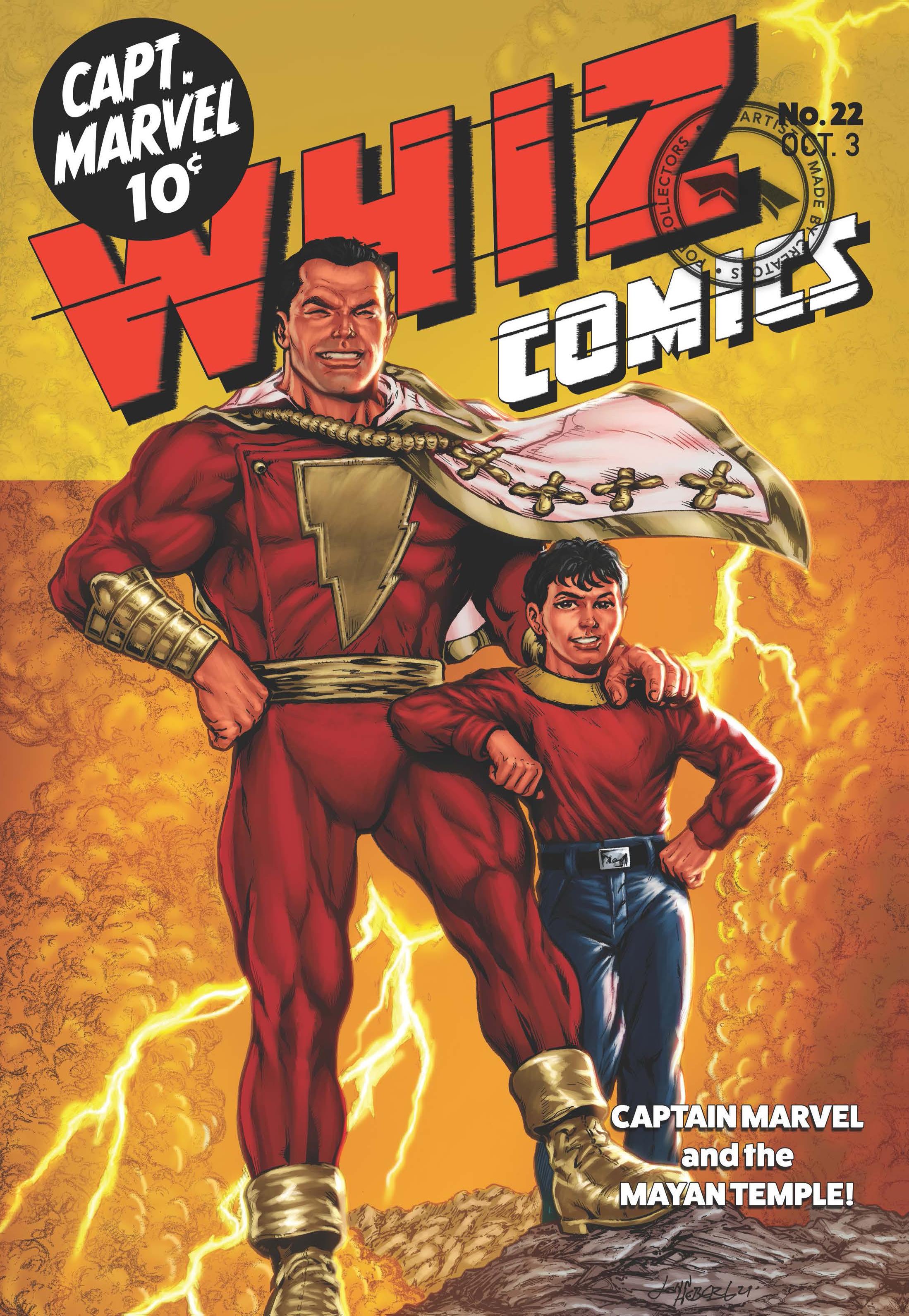 WHIZ COMICS #22: COVER RECREATION, FACSIMILE REPRINT