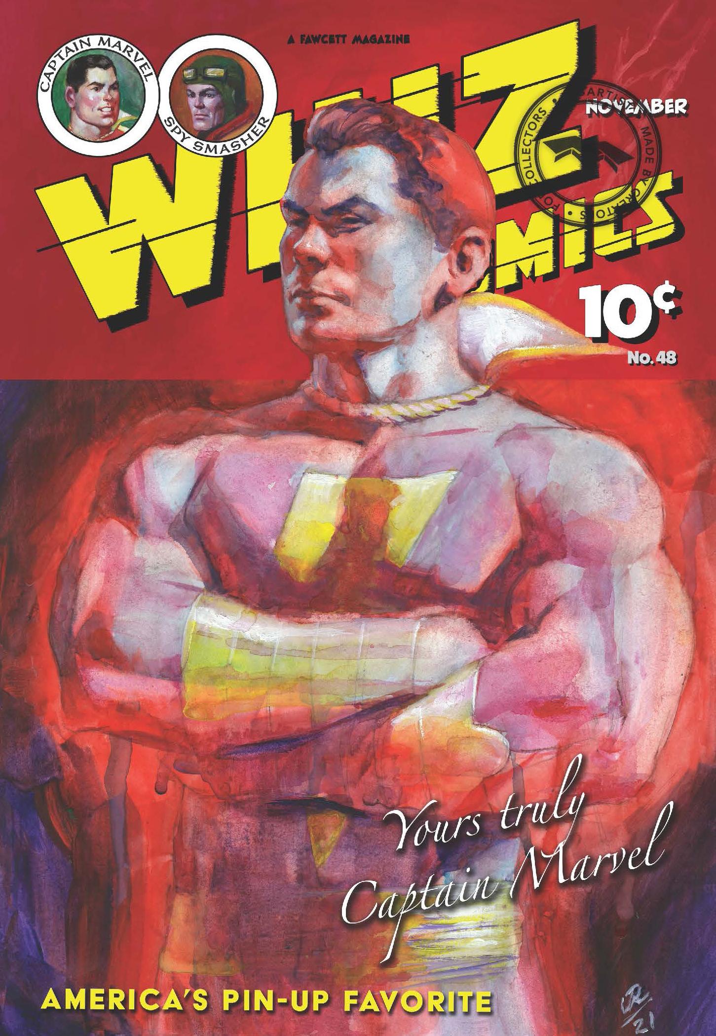 WHIZ COMICS #48: COVER RECREATION, FACSIMILE REPRINT