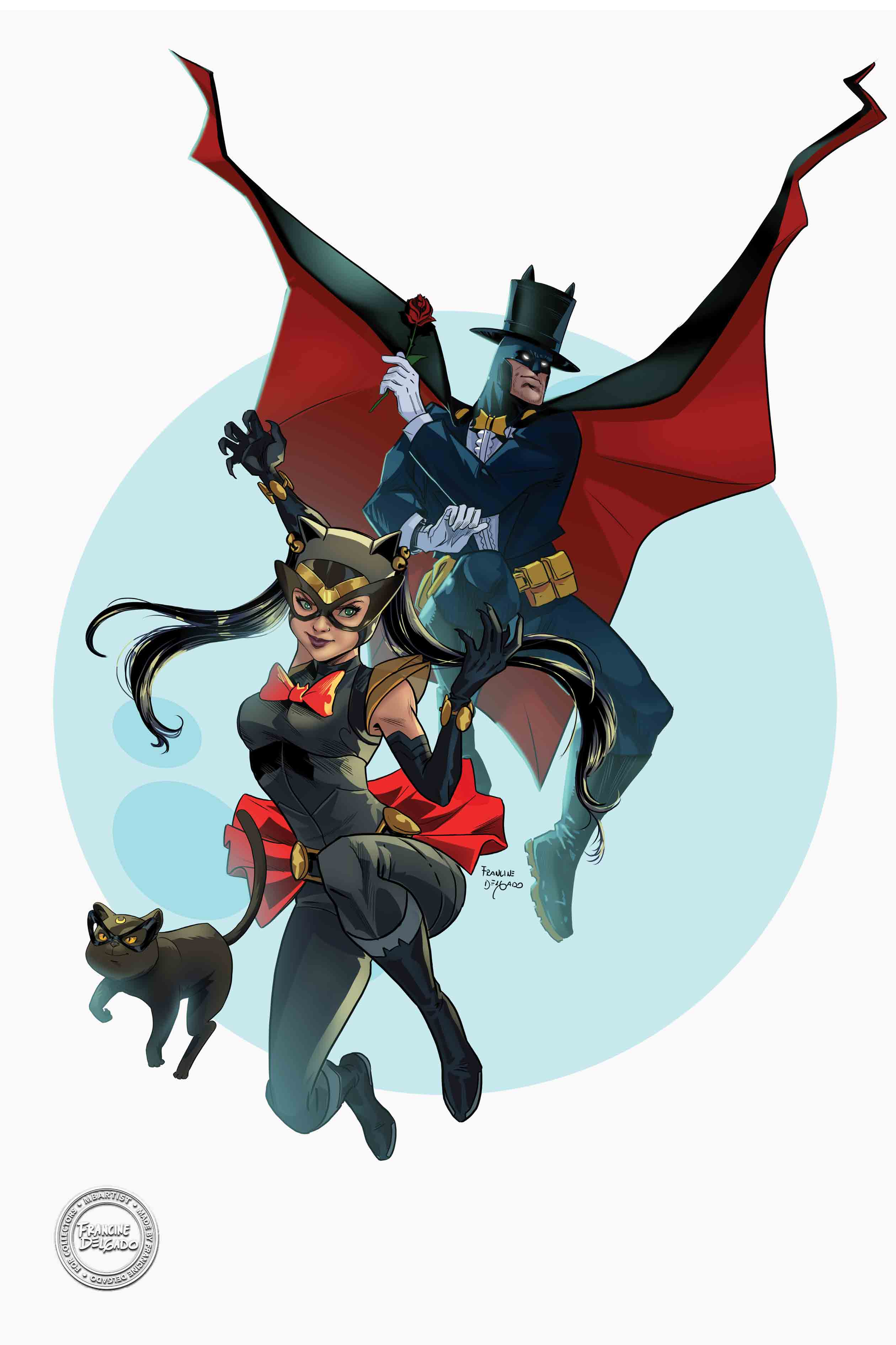 SAILOR MOON/BATMAN MASH-UP: SAILOR SELINA AND BATUXIDO